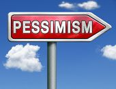 pessimism negative thinking bad mood pessimist think negative red road sign arrow