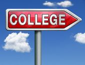 college towards good education and knowledge learn to know educate yourself and go to school road si