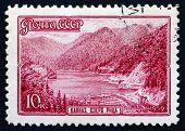 Postage Stamp Russia 1959 Lake Ritza, Caucasus, Abkhazia