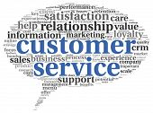 picture of customer relationship management  - Customer service concept in word tag cloud on white - JPG
