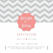 stock photo of bridal shower  - Vintage card - JPG
