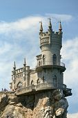 YALTA, UKRAINE - MAY 11: Swallow's Nest castle near Yalta, Crimea, Ukraine on May 11, 2013. The deco