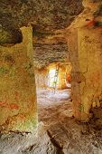 pic of longhouse  - Medieval complex byzantine residence in the sicilian hinterland interior - JPG