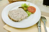 French Food Pate Terrine Of Rabbit   Photographed In Paris France Europe