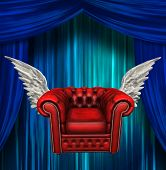 Winged comfort chair