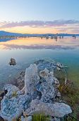 Tufa Formations at Mono Lake outside of Yosemite National Park at Sunset