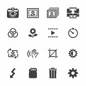 Photography icons and Camera Function Icons