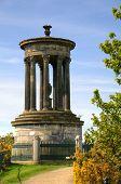 Dugald Stewart Monument on Calton Hill in  Edinburgh, Scotland