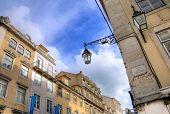 Street in Baixa district, Lisbon, Portugal