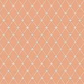 Seamless Pattern: Symmetrically Placed Flowers