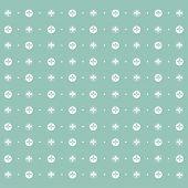 Seamless Pattern: Symmetrically Placed Lily