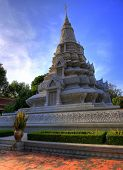 Stupa of King Norodom at The Royal Palace in Phnom Penh, Cambodia