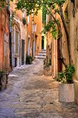 Small street at Saint Tropez, C�?�´te d'Azur, France