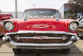 1957 Red Chevy Nomad Front View