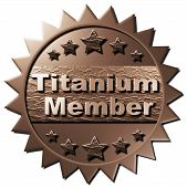 image of titanium  - This seal declaring Titanium Membership can be used for the www as well as on other marketing material - JPG
