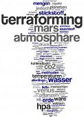 Word cloud - terraforming