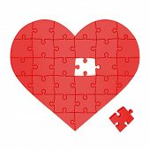 Heart Made Of Puzzles