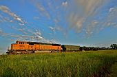 BNSF Freight Train in the Prairie