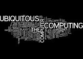 Word cloud - ubiquitous computing