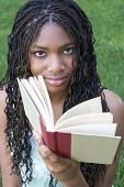 stock photo of girl reading book  - girl reading - JPG
