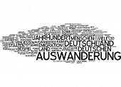 Word cloud - emigration