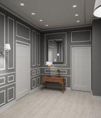 modernes Interieur. 3D render
