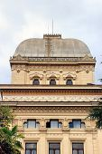 stock photo of synagogue  - The Great Synagogue is the largest synagogue in Rome and one of the greatest in Europe - JPG