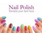 Multi Color manicure