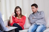 Couple Before Divorce At Psychotherapy
