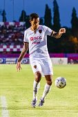 Sisaket Thailand-june 8: Jay Bothroyd Of Muangthong Utd. In Action During Thai Premier League Betwee