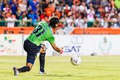 Sisaket Thailand-june 8: Lucas Daniel Of Sisaket Fc. In Action During Thai Premier League Between Si