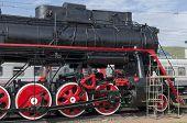 Memorial steam locomotive L-4046, the depot Sludyanka, Russia, Irkutsk region