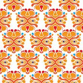 Seamless Dutch Lion Dutch traditional sports illustration holland background pattern in vector