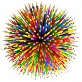 Pencils Abstract Background