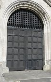 Large Wooden Fortress Door