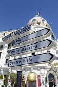 Road Signpost In Nice, France