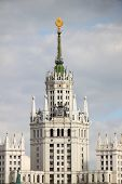picture of highrises  - Highrise soviet era building on Kotelnicheskaya embankment in Moscow - JPG