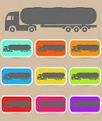 stock photo of tank truck  - Icon trucks with tanks  - JPG