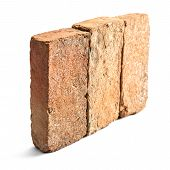 Group Of Brick Isolated