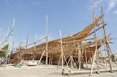 stock photo of oman  - Image of traditional handiwork shipbuilding Sur Oman - JPG