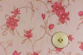 an old wallpaper with light switch. symbolic photo for renovation and remodel.