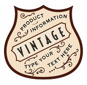 picture of scrollwork  - Vintage vector label illustration with old fashioned scrollwork and arcs for text placement - JPG