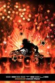picture of night-club  - Abstract Colorful Burning Dj Background for Alternative Disco Flyers - JPG