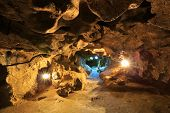 pic of crystallography  - Krychtaleva cave indoor view - JPG
