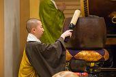 Japanese Monk at Shichi-go-san Ceremony