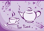 Tea Time. Vector Illustration