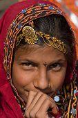 Pushkar, India - November 21: An Unidentified Girl Attends The Pushkar Fair On November 21, 2012 In