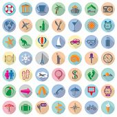 Vector Set Of Colorful Travel Flat Icons