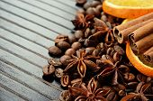 Fragrant Spices, Coffee And Dry Orange