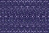 Dark purple background with a lilac pattern.